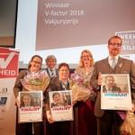 Luchthavenbeveiliger winnaar V-factor 2018